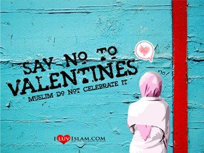 no to valentine